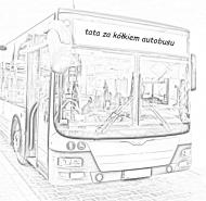 tata za kółkiem autobusu