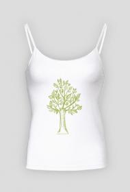 Damski top z drzewem, drzewko koszulka damska, koszulka z nadrukiem drzewa