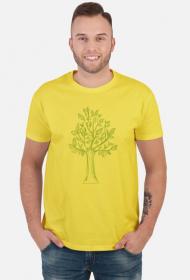 Koszulka z drzewem, męska koszulka z drzewkiem