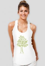 Damska bokserka z drzewem, drzewko koszulka damska, drzewo top, top z drzewkiem