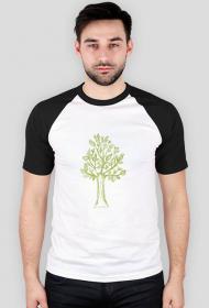Męska koszulka z drzewem, drzewo koszulka męska