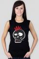 Punk Skull Girls Black Tank Top