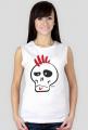 Punk Skull Girls White Tank Top