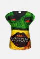 Kolorowy Uśmiech Damska Koszulka Fullprint