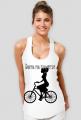 Koszulka damska - Dama na rowerze