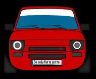 Poduszka Bo Mały Fiat To Jest to
