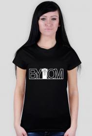 Bytom - koszulka damska - napis biały
