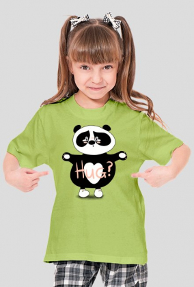 Panda Hug Girl's T-shirt green