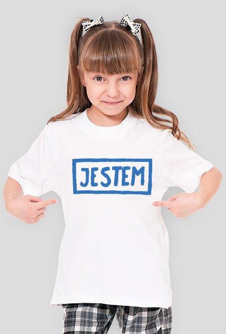T-shirt dziewczęcy JESTEM