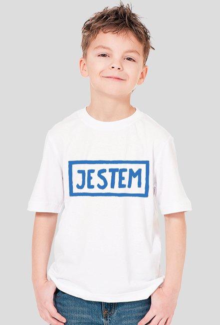 T-shirt chłopięcy JESTEM