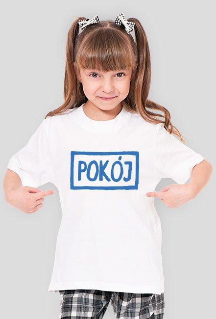 T-shirt dziewczęcy POKÓJ