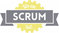 Scrum Master -  koszulka na prezent - We Use SCRUM, but....