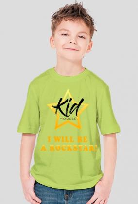 Koszulka Kidmodels I will be a rockstar ON