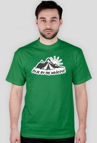 Koszulka męska Żyję by się włóczyć
