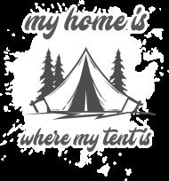 """Koszulka męska """"My home is.."""