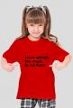 T-shirt dla dziewczynki wege