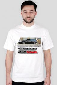 Kabaret Czwarta Fala Passat bez dymu kół - koszulka męska
