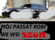 Kabaret Czwarta Fala Passat z dymem kół - koszulka męska