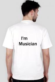 Jestę Muzykię - koszulka muzyczna męska dwustronna