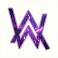 T-shirt Alan Walker White logo