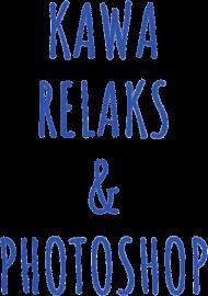 "Kubek ""Kawa, Relaks & Photoshop"" (BIAŁY) - serce"
