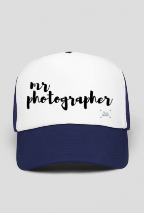 "Czapka męska ""Mr photographer"" (CZARNA?NIEBIESKA)"
