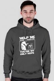 Bluza męska z kapturem - Help me stack overflow