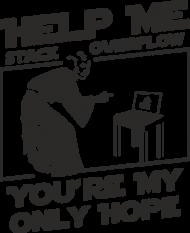 Koszulka damska dla fanki Star Wars idealna na prezent dla informatyka programisty na mikołajki pod choinkę, na urodziny  - Help me stack overflow