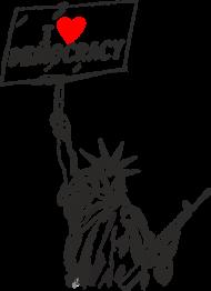 Kubek, kocham demokrację - I love democracy