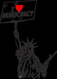 Podkładka pod mysz, kocham demokrację - I love democracy