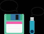 Poduszka z przerobionym motywem z Gwiezdnych Wojen, ciekawy pomysł na praktyczny i tani prezent dla informatyka, programisty - I am your father... Noooo! Floppy Disk (Dyskietka), Pendrive
