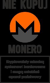 Koszulka idealna na ciekawy prezent dla fana kryptowalut i technologii blockchain - Nie kupuj Monero