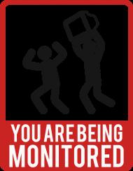 Bluza ze śmiesznym nadrukiem dla programisty, informatyka - You are being monitored