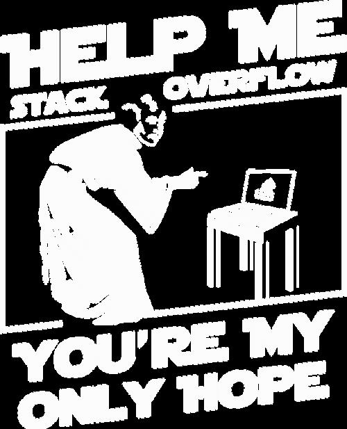 Bluza męska dla fana star wars idealna na prezent dla informatyka programisty na mikołajki pod choinkę, na urodziny Help me stack overflow