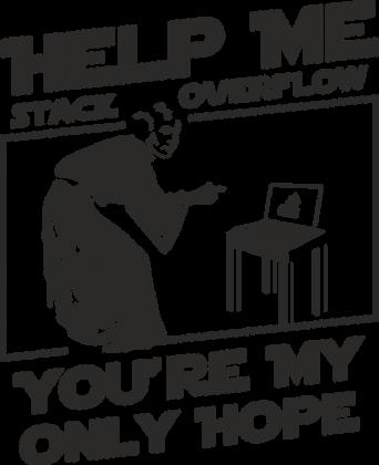 Koszulka damska dla fanki Star Wars idealna na prezent dla informatyka programisty na mikołajki pod choinkę, na urodziny Help me stack overflow
