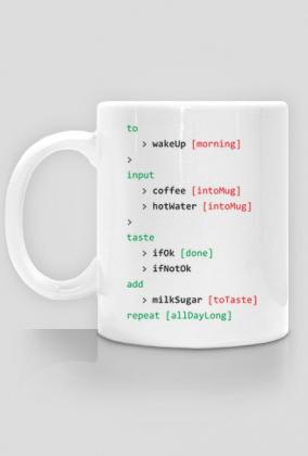 Kubek prezent dla informatyka programisty - Kodowanie kawy coffee