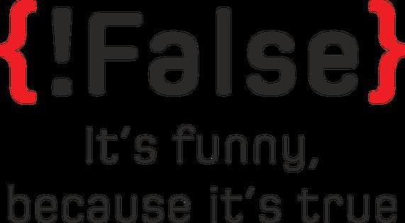 Koszulka prezent dla informatyka programisty na mikołajki pod choinkę, na urodziny - !false it's funny because it's true