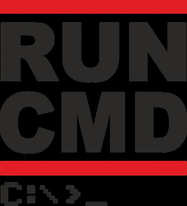 Koszulka prezent dla informatyka programisty na mikołajki pod choinkę, na urodziny - Run CMD