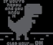 Kubek dobry prezent dla programisty, informatyka, nerda, geeka, na mikołajki, na urodziny, pod choinkę - Chrome Dinosaur, T-Rex ( If you're happy and you know it, clap your hands)