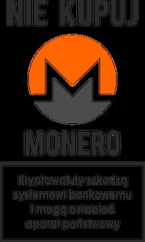 Ciekawy kubek, idealny na ciekawy prezent dla fana kryptowalut i programisty - Nie kupuj Monero! Może on szkodzić systemowi bankowemu