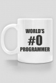 Kubek dobry na prezent dla informatyka programisty, pod choinkę, na urodziny, na mikołajki - World's #0 programmer