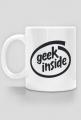 Kubek czyli dobry pomysł na śmieszny i tani prezent dla informatyka, programisty, geeka, nerda - Geek Inside przeróbka Intel inside