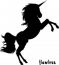 Flawless black - torba biała