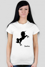 Flawless black - koszulka biała