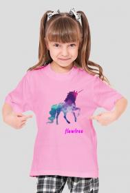 Flawless - koszulka dziewczęca róż