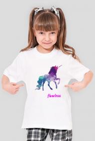 Flawless - koszulka dziewczęca biała