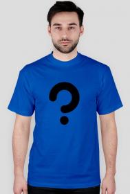 Zagadka - koszulka męska niebieska