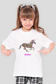 Flawless kolor - koszulka dziewczęca biała