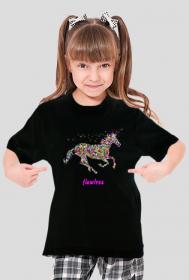 Flawless kolor - koszulka dziewczęca czarna