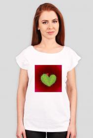 KaktuSerce - koszulka damska biała